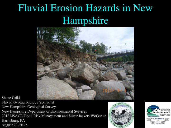 fluvial erosion hazards in new hampshire n.
