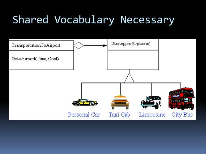 Shared Vocabulary Necessary
