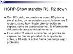 hsrp show standby r3 r2 down1
