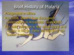 brief history of malaria