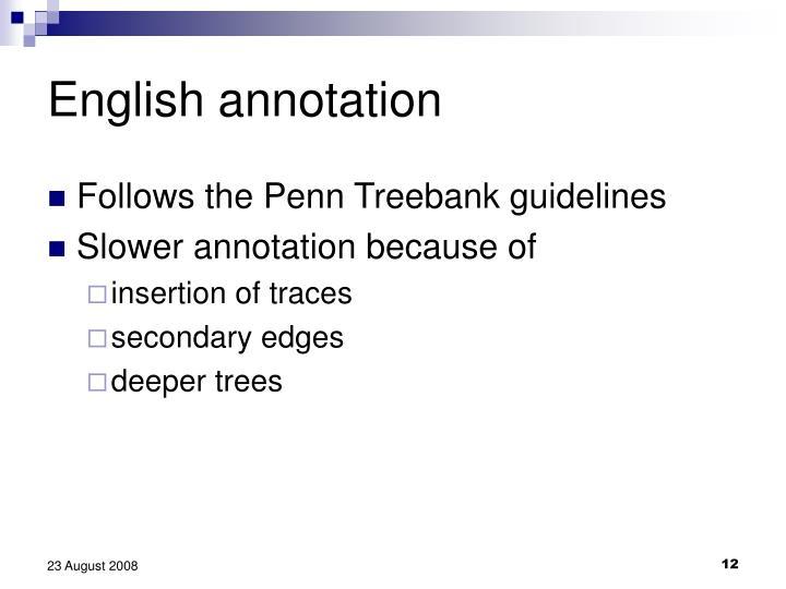 English annotation