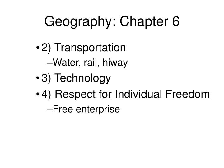 Geography chapter 61