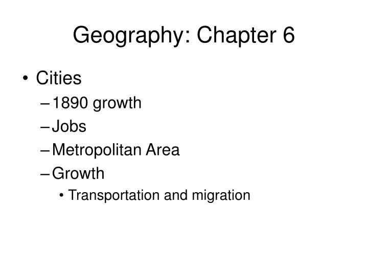Geography chapter 62