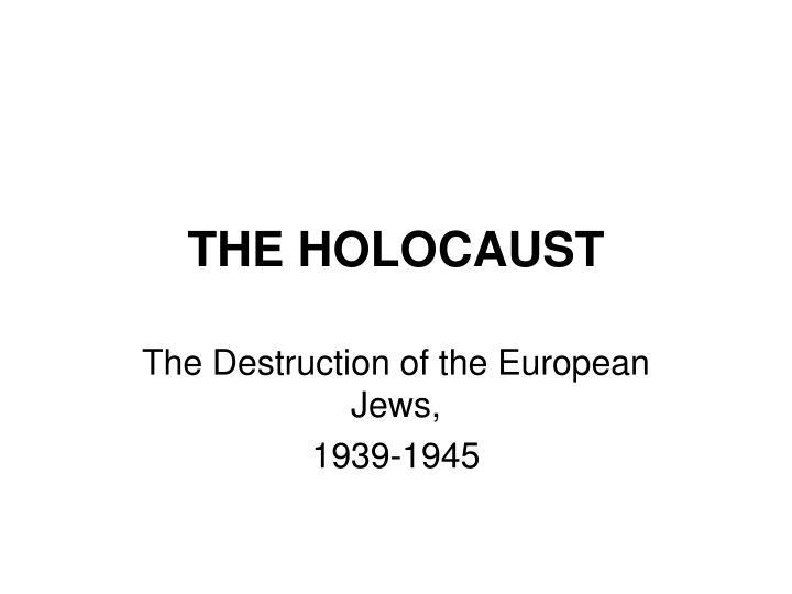 the holocaust n.