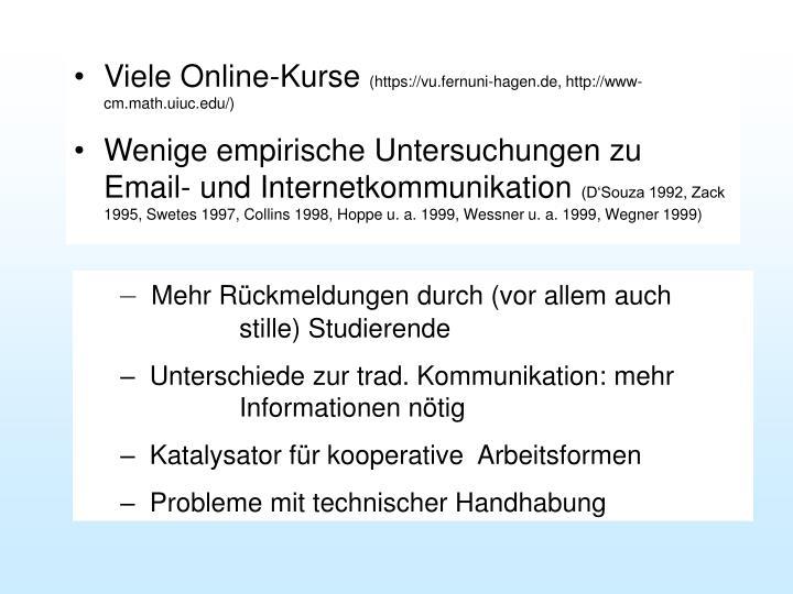 Viele Online-Kurse