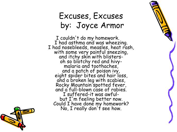 the poem excuses by langston hughes excuses