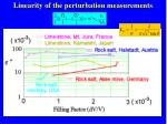 linearity of the perturbation measurements3
