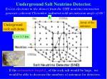 underground salt neutrino detector