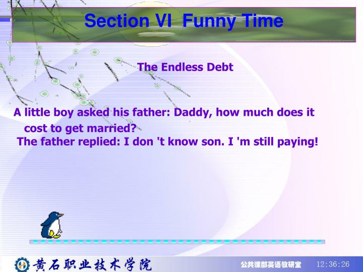 Section VI  Funny Time