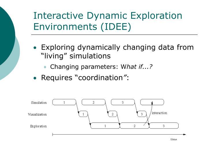 Interactive Dynamic Exploration Environments (IDEE)