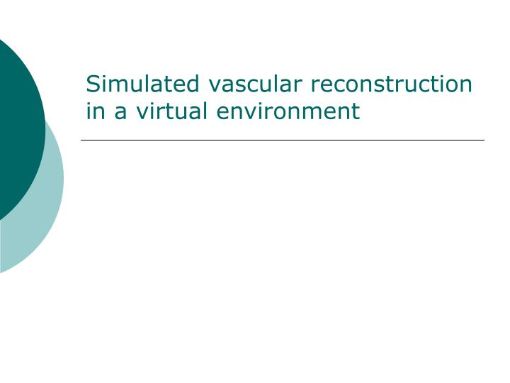 Simulated vascular reconstruction