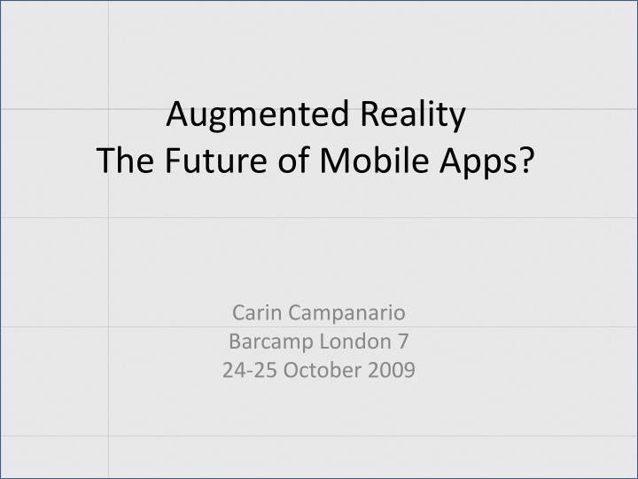 augmented reality the future of mobile apps n.