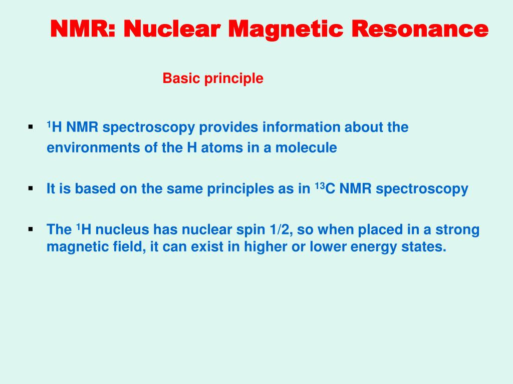 Ppt Basic Two Dimensional Nmr Spectroscopy Powerpoint