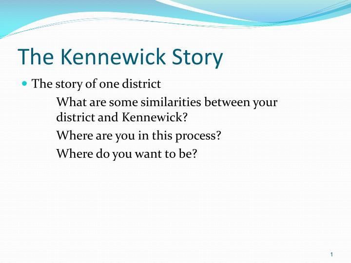 The kennewick story