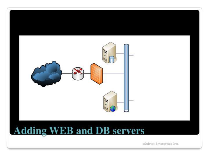 Adding WEB and DB servers