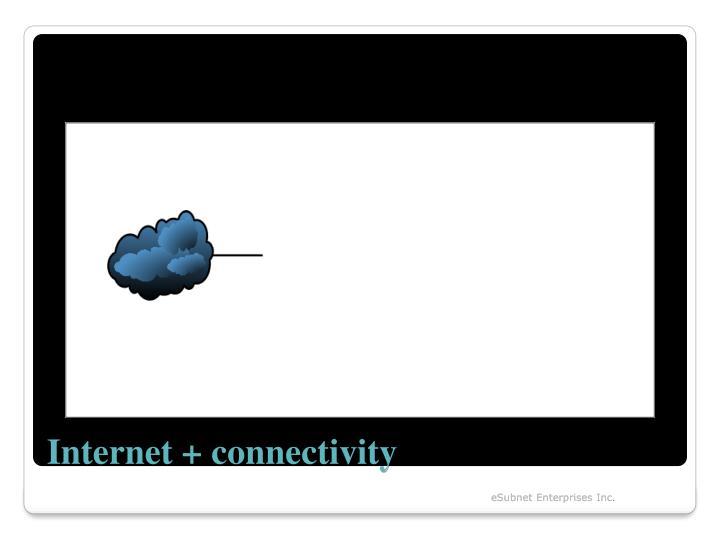Internet + connectivity