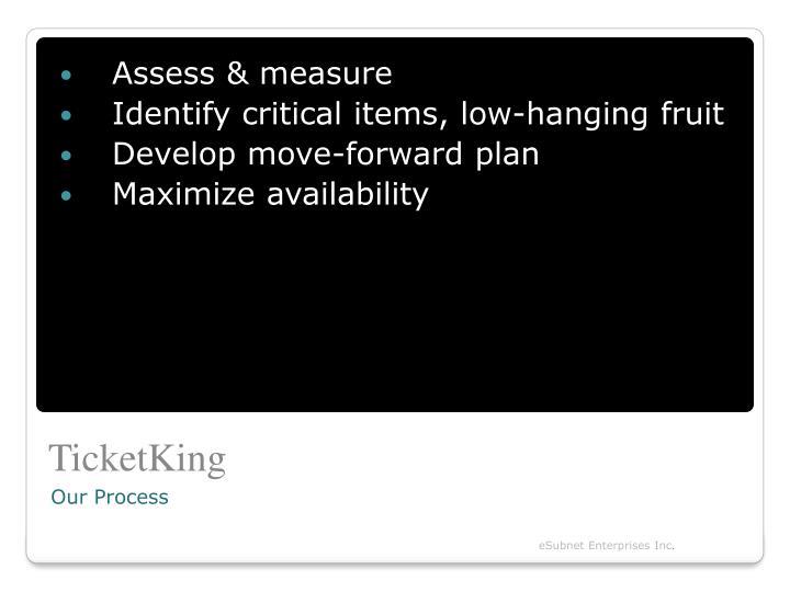 Assess & measure