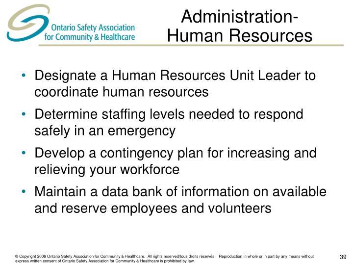 Administration-