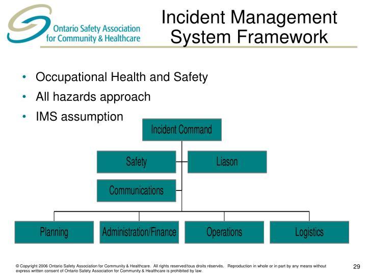 Incident Management System Framework