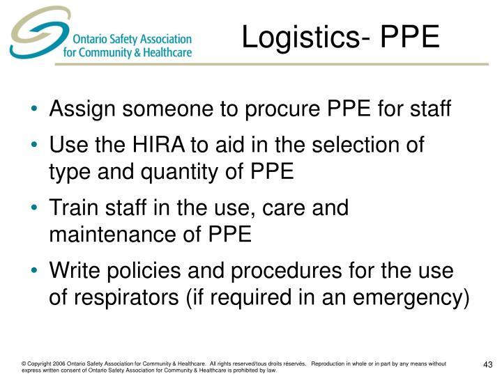 Logistics- PPE