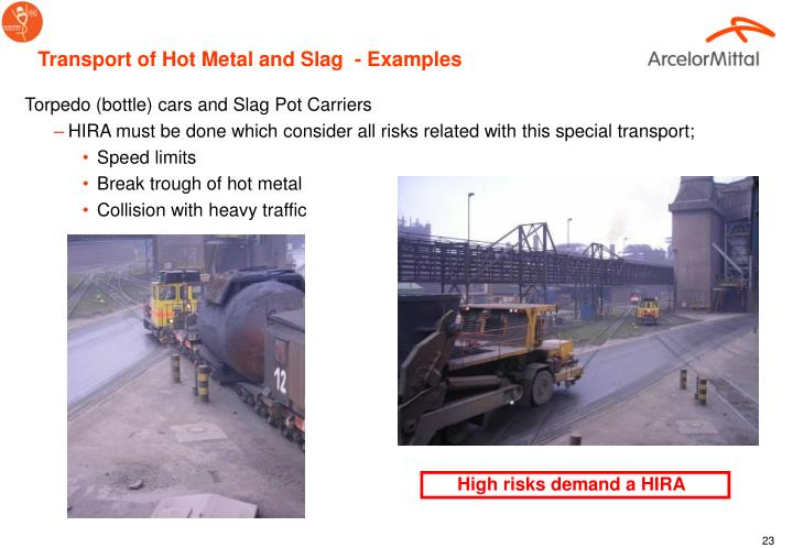Transport of Hot Metal and Slag  - Examples