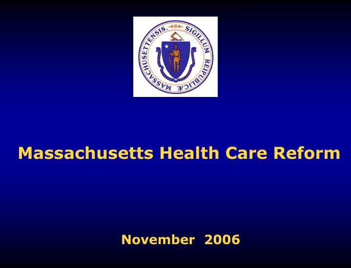 massachusetts health care reform n.