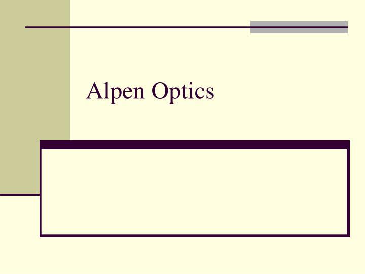 Alpen Optics