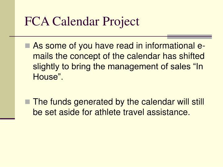 FCA Calendar Project