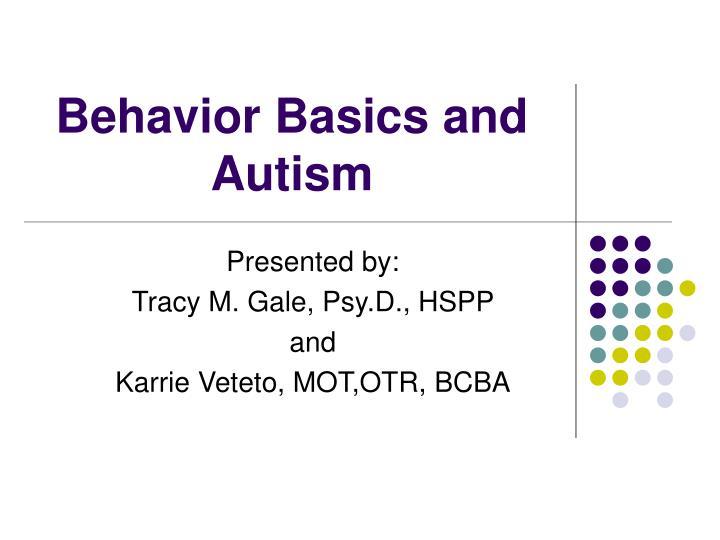 behavior basics and autism n.