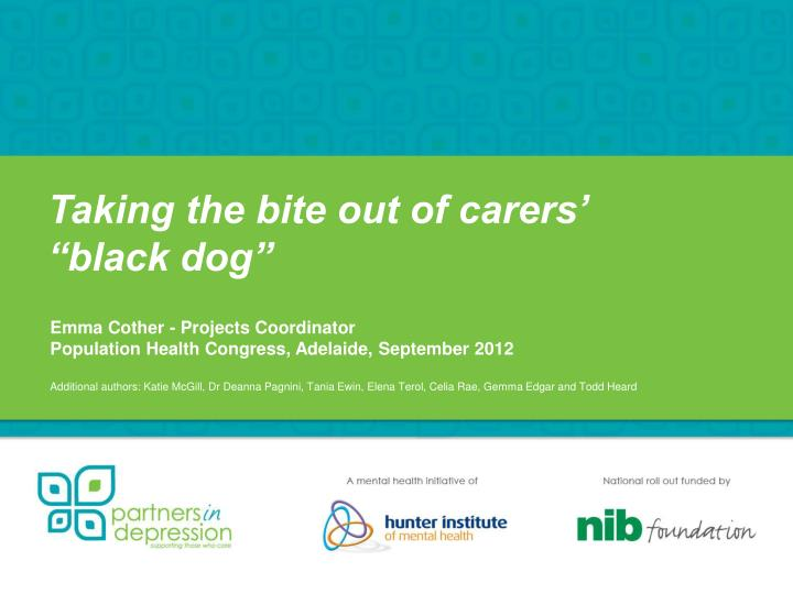 taking the bite out of carers black dog