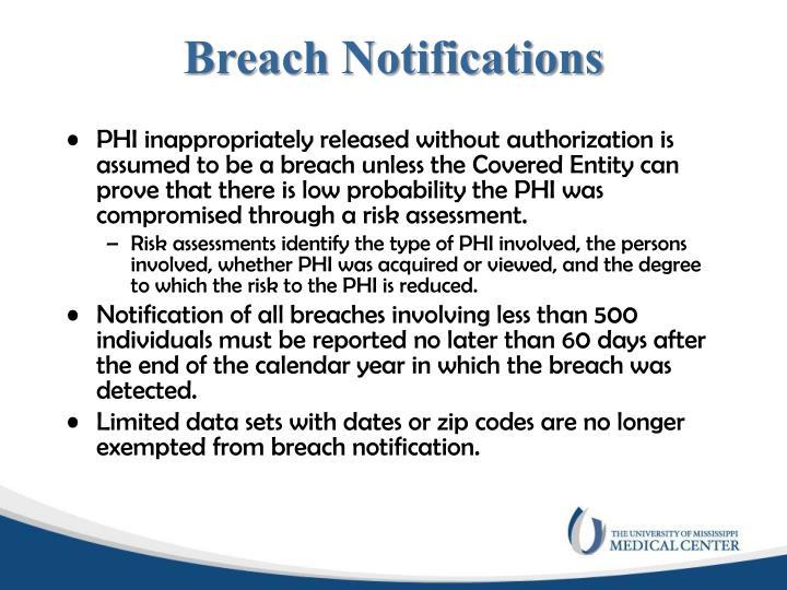 Breach Notifications