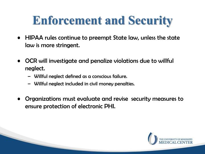 Enforcement and Security