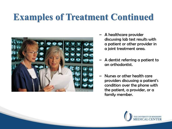 Examples of Treatment