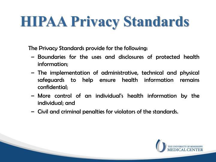 HIPAA Privacy Standards