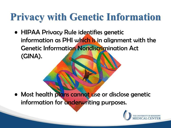 Privacy with Genetic Information