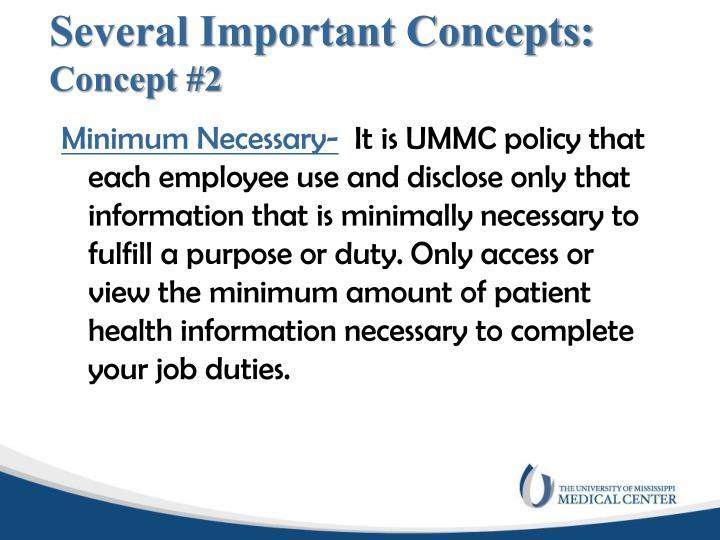 Several Important Concepts: