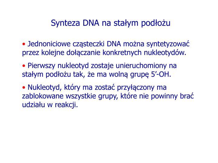 Synteza DNA na stałym podłożu