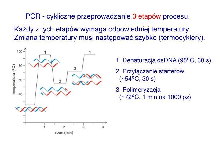 PCR - cykliczne przeprowadzanie