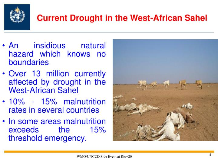 Current Drought in the West-African Sahel