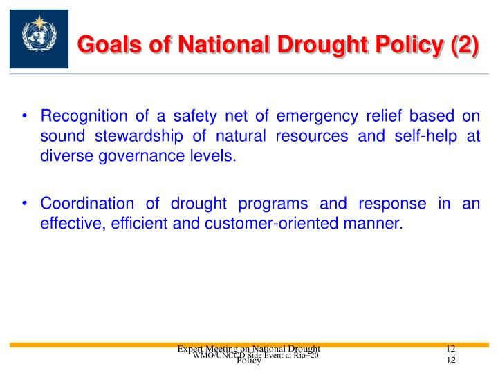 Goals of National Drought Policy (2)