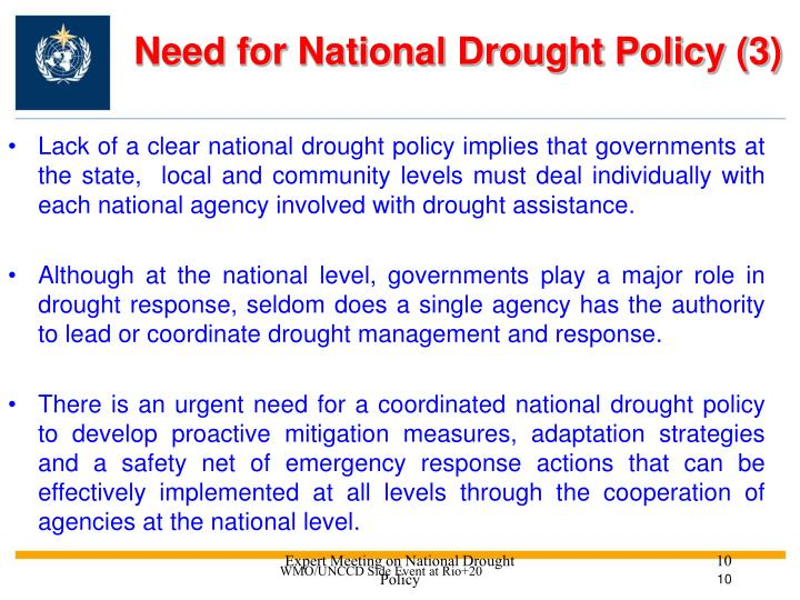 Need for National Drought Policy (3)