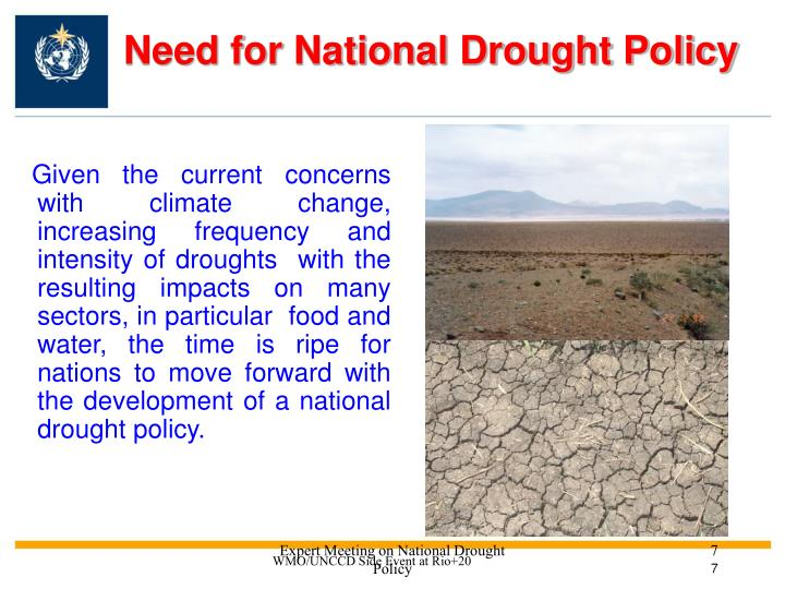 Need for National Drought Policy
