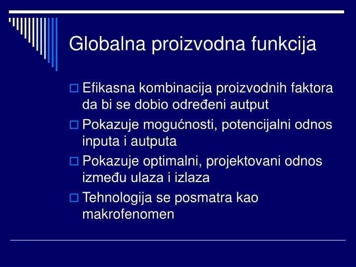 Globalna proizvodna funkcija