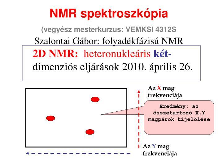 Nmr spektroszk pia vegy sz mesterkurzus vemksi 4312s szalontai g bor folyad kf zis nmr