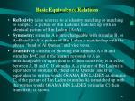 basic equivalence relations