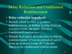 delay reduction and conditioned reinforcement