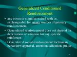 generalized conditioned reinforcement