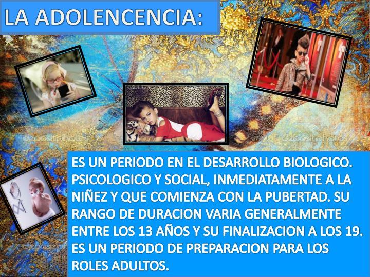 LA ADOLENCENCIA: