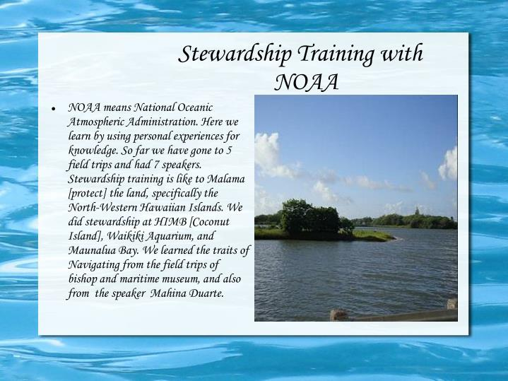 Stewardship training with noaa1