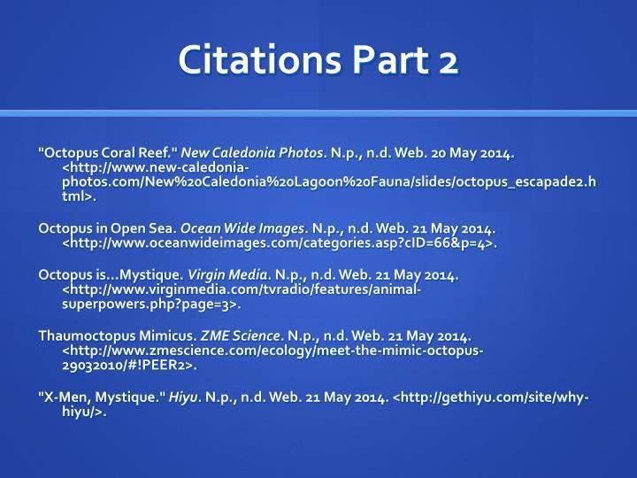 Citations Part 2